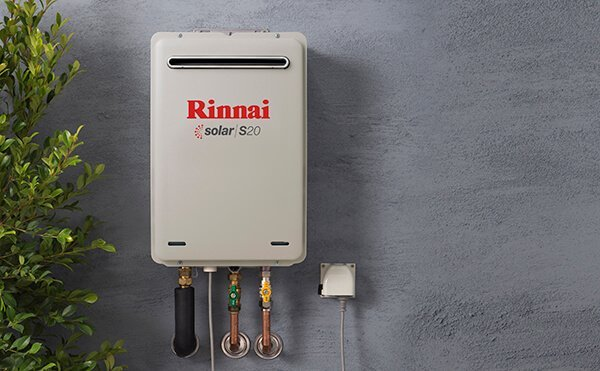 Rinnai S20 Solar Booster hot water system
