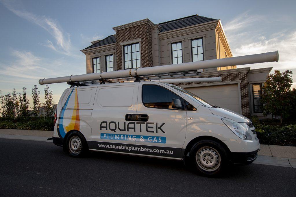 Aquatek Plumbing & Gas van